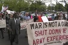 Arrested Army game protester writes up her experience