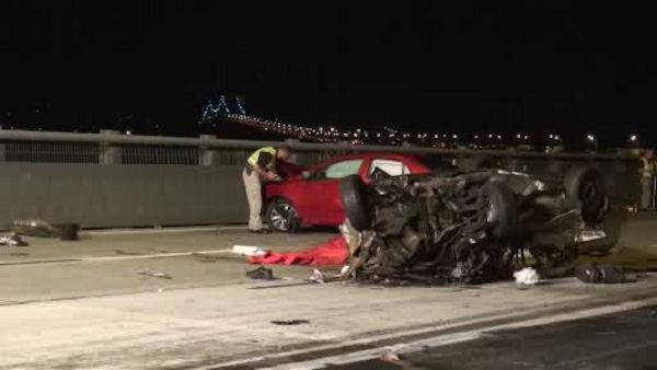 Wrong-way crash leaves 1 dead, 4 injured