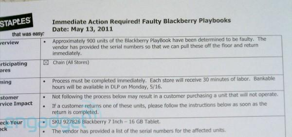 RIM recalls 900 faulty BlackBerry PlayBooks, here are the serial numbers (update)