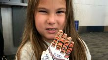 Girl with 3-D printed hand closing in on goal of throwing out the first pitch at all 30 MLB stadiums
