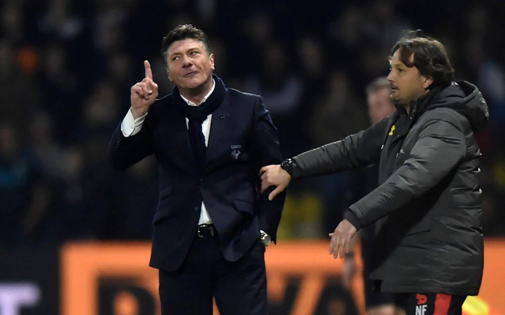 Mazzarri had to be held back by his goalkeeping coach - REUTERS