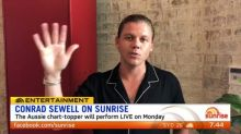 Conrad Sewell will perform live on Sunrise
