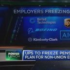 UPS, other employers freeze pension plans