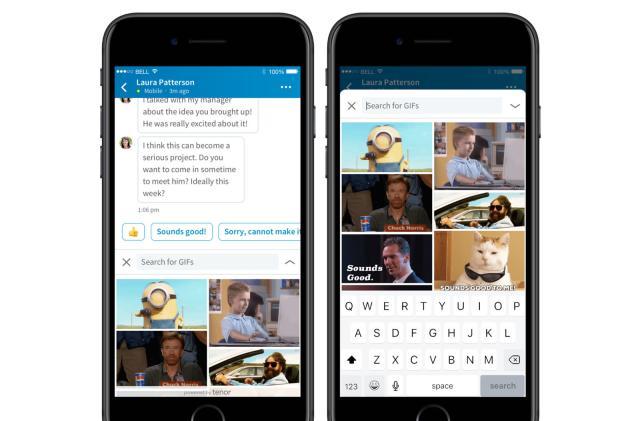 LinkedIn Messenger gets GIFs for... job searching?
