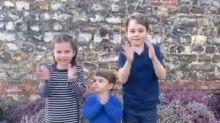 Los hijos del príncipe Guillermo y Kate Middleton se suman al aplauso sanitario