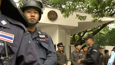 Raw Video: Prophet film protest in Thai capital