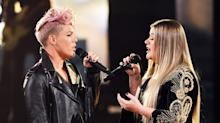 Kelly Clarkson and P!nk open 2017 American Music Awards with moving tribute to first responders