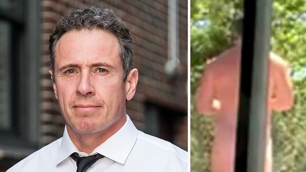 Chris Cuomo Seemingly Caught Naked in Wifes Yoga Video