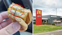 'Nearly broke my tooth': Woman outraged by find in McDonald's burger