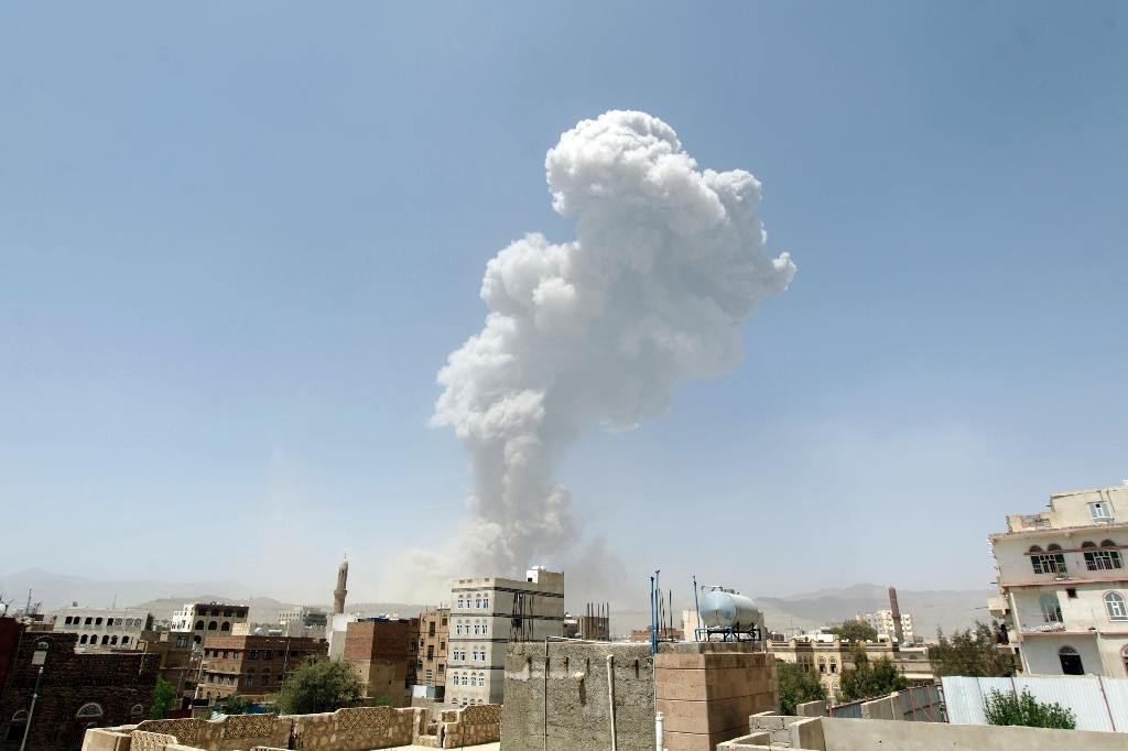 Yemen slid deeper into turmoil when the Saudi-led coalition launched air strikes in late March to stop an advance by the Iran-backed Huthi rebels (AFP Photo/Mohammed Huwais)