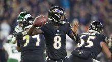 Record-breaking Lamar Jackson helps Ravens brush aside Jets