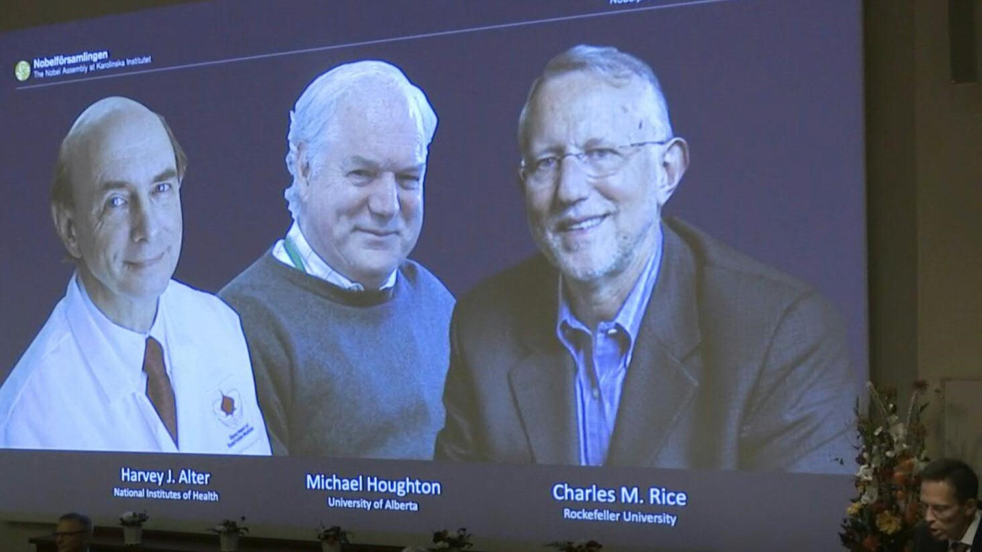 A US-British trio wins the Nobel Prize in medicine for discovering the liver-ravaging hepatitis C virus [Video]