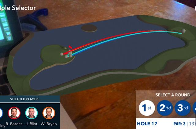 PGA Tour AR app puts a golf course on your coffee table