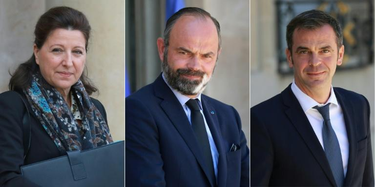 L-R: Agnes Buzyn, Edouard Philippe and Olivier Veran are under investigation for their handling of the coronavirus crisis