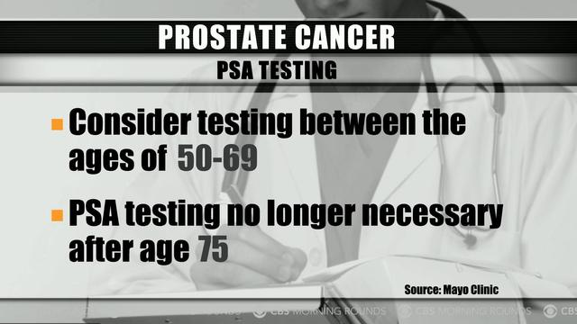 Morning Rounds: When is screening for prostate cancer recommended?