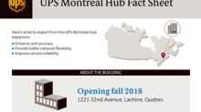 UPS® to Invest $500 Million in Canada and Create More than 1,000 New Jobs