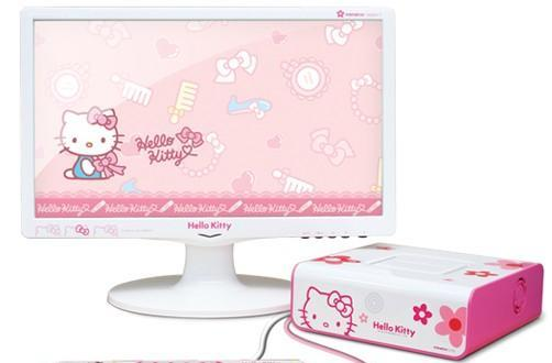 Moneual's MiNEW A10 nettop gets preciously attacked by Hello Kitty