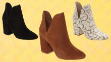 The perfect fall booties are on sale for half off — but only for today!