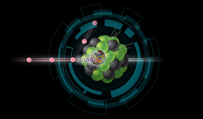 Electron-Ion Collider artistic depiction