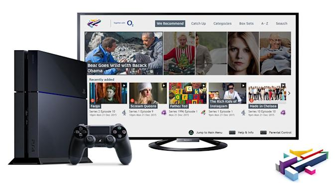 All 4 streaming app arrives on PlayStation 4