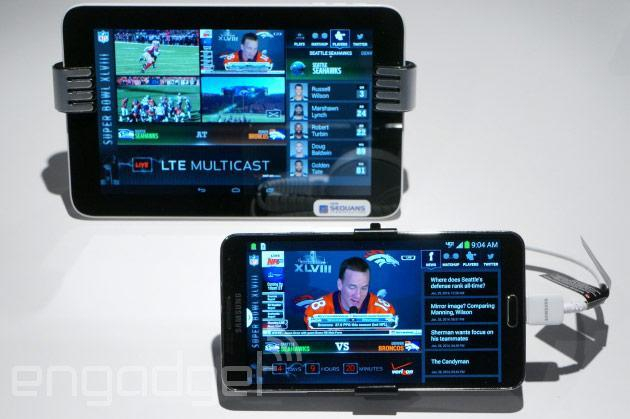 Verizon demonstrating LTE Multicast during Super Bowl XLVIII (hands-on video)