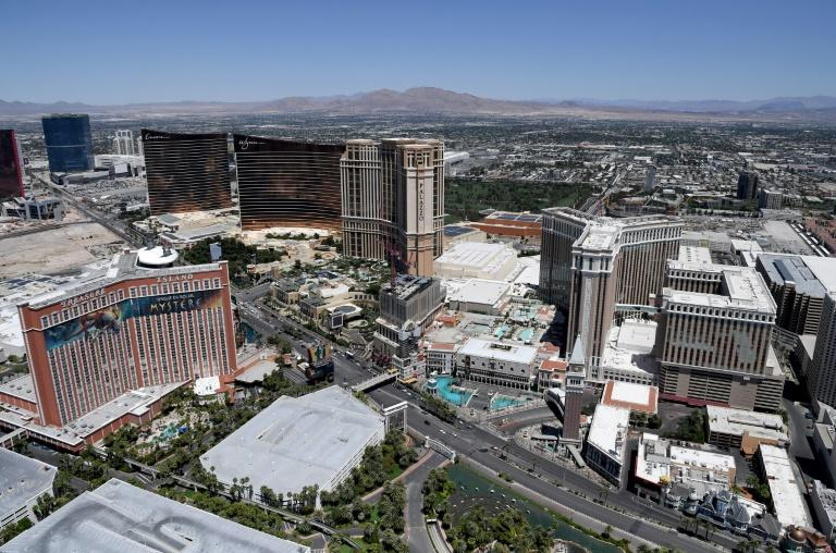 An aerial view of the Las Vegas Strip (AFP Photo/Ethan Miller)
