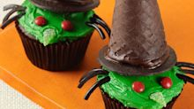 These Halloween-themed witch cupcakes are wicked good