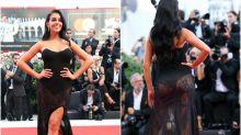 Georgina Rodríguez, protagonista en la primera alfombra roja de Venecia