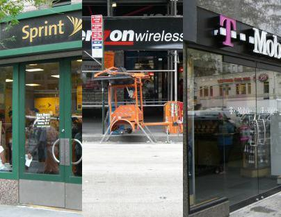 Meanwhile, at the other carriers' stores...