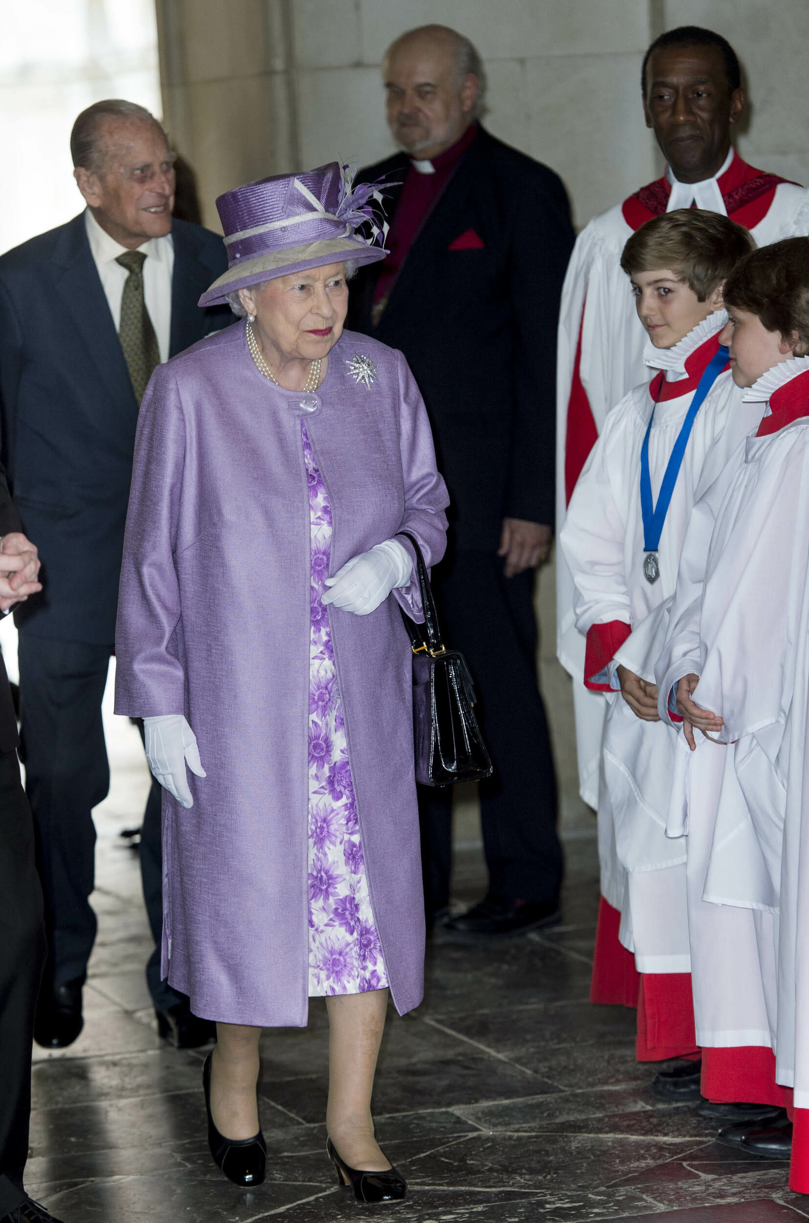 Photo by: KGC-178/starmaxinc.com STAR MAX ©2017 ALL RIGHTS RESERVED Telephone/Fax: (212) 995-1196 6/13/17 Queen Elizabeth II and Prince Philip, Duke of Edinburgh attend Evensong in celebration of the centenary of the Order of the Companions of Honour at Hampton Court Palace in London.