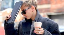 Hailey Bieber Teams Adidas Track Pants With These $1150 Sneakers for a Casual Sunday Drive With Justin Bieber