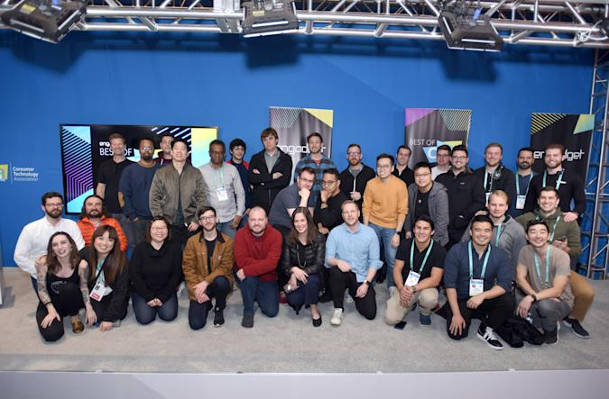 Team Engadget at CES 2020.