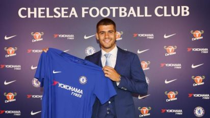Chelsea complete club-record signing of Alvaro Morata from Real Madrid on a five-year contract