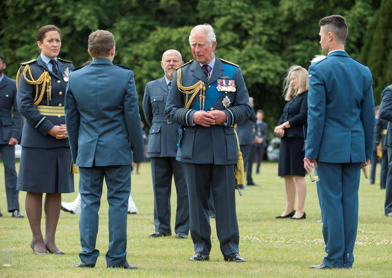 FILE PHOTO: Britain's Prince Charles attends Graduation Ceremony at RAF College Cranwell
