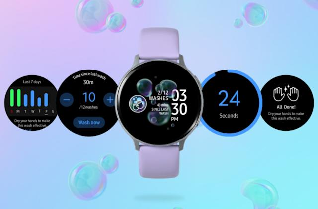 Samsung's latest smartwatch app reminds you to wash your hands
