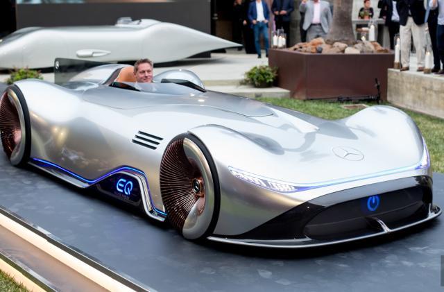 The electric Mercedes-Benz EQ Silver Arrow is retro quick