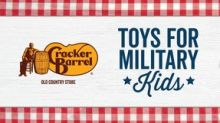 Military Kids to Receive Toys with the Help of Cracker Barrel Old Country Store®