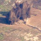 WATCH: Ordnance on F-16 jet detonated in Riverside