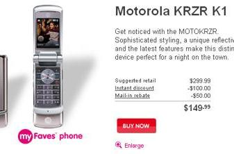 Motorola KRZR K1 launches on T-Mobile