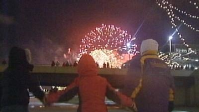 Few Revelers Brave Chills For Friday Fireworks