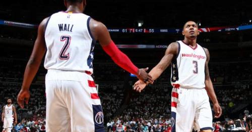 Basket - NBA - Grâce à John Wall et Bradley Beal, les Wizards s'envolent face à Atlanta