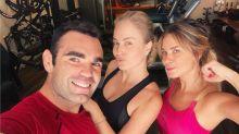 Dieckmann e Angélica pegam pesado na aula de muay thai