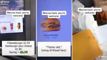Man's 'genius' McDonald's cheeseburger hack