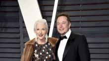 Elon Musk Brought His 68-Year-Old Model Mom to the Oscar Parties
