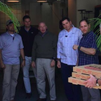 George W. Bush Brings Pizza to Employees Who 'Are Working Hard for Our Country Without a Paycheck'
