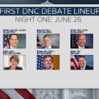 DNC unveils matchup of candidates for first primary debate