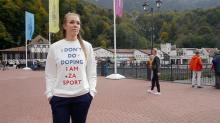 Russian Olympian Who Wore an 'I Don't Do Doping' Slogan Shirt Just Failed Her Drug Test