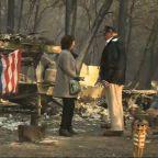 Trump sees Calif. wildfire devastation up close