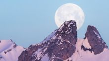 'Super snow moon' lights up the skies