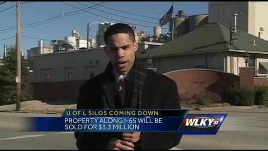 Silos along I-65 coming down for UofL expansion
